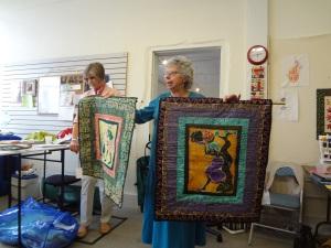 Ellie displays 2 dynamic quilts!