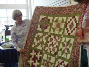 Barbara's 1st. quilt; a beautiful 9 Patch.