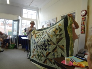"""Multifaceted"" quilt, pieced with Bali pops by Barbara and quilted by Betsy Cannan"
