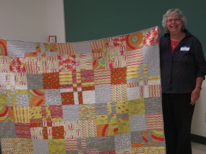 Another one of Ellie's bright warm quilts!  WooHoo!