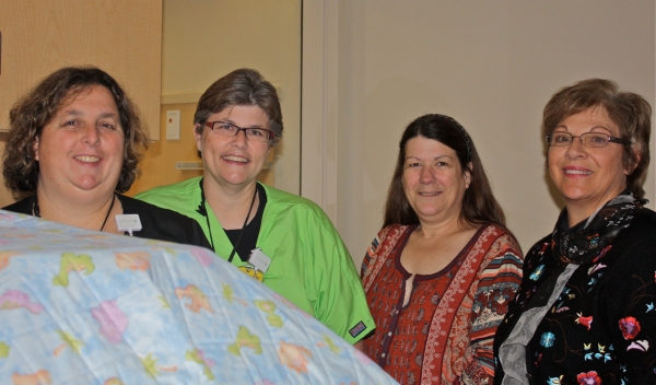 Left to right, Jill Bolduc, Level 2 Nurse specializes in Maternity, NICU, and Infant Demise. Melanie Lee, RN, Clinical Educator, contact person for Hazel Henderson.