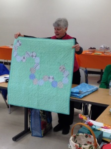 Karen B.'s modern octagons and caterpillars!