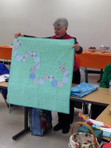 Karen B.'s modern octagons and caterpillars!