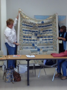 Janet's modern quilt pattern using traditional fabrics.
