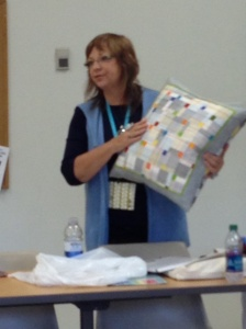 Our Fearless Leader Betsy will teach this modern pillow at Maine Quilts in July!