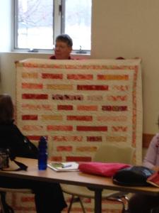 Carmen's gorgeous pink modern quilt.
