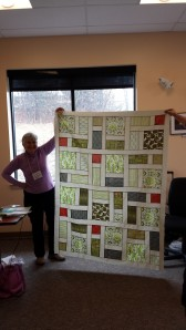 Her personal version of a modern quilt.