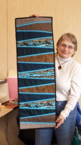 Mona Gosselin made a modern table runner for her son