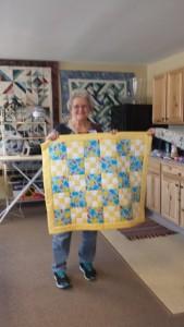Adma Willis' baby quilt