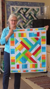 Audrey Arguin's bright, beautiful modern quilt.
