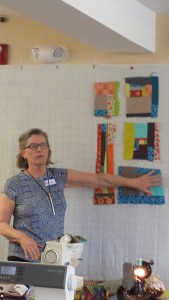 Bonnie Dwyer teaching Modern Improv Quilting