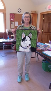Bonnie with Quilted Family Dog Photo