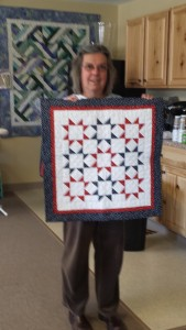 Jane Hann Morey's Mod quilt with lots of white negative space