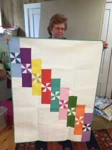 Diane showed off her award winning quilt.