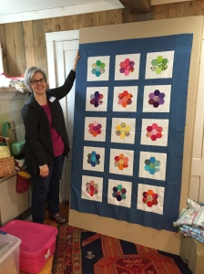 A charity quilt by Sue