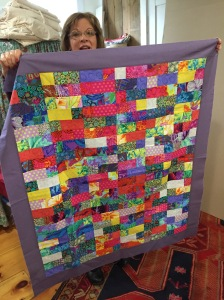 A charity quilt by Hazel