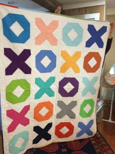 A charity quilt made last spring by guild members