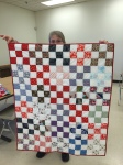 A charity quilt by Mona